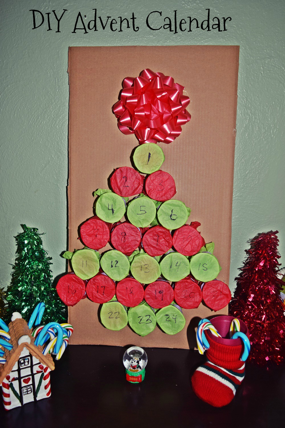 Diy holiday tree advent calendar life with kathy i decided to make this christmas tree diy advent calendar for my daughters solutioingenieria Choice Image